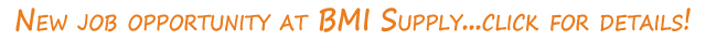 Job Openings at BMI Supply